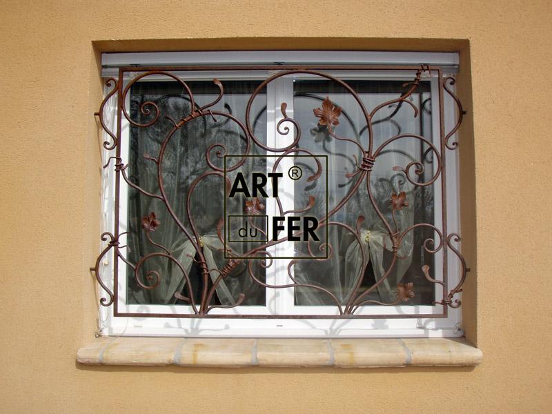 Grilles marquises art du fer for Art nouveau fenetre